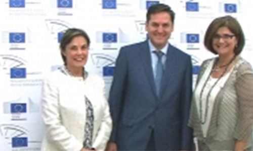 La fundadora de educ@group European Schools, Martine Marsá visita al Director de La oficina en España del Parlamento Europeo