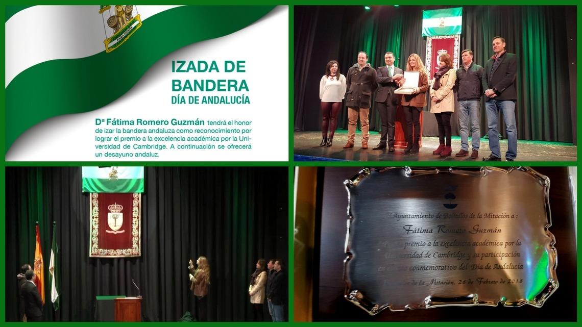 Reconocimiento a alumna del CBS en el Día de Andalucía. Casa de la Cultura de Bollullos de la Mitación