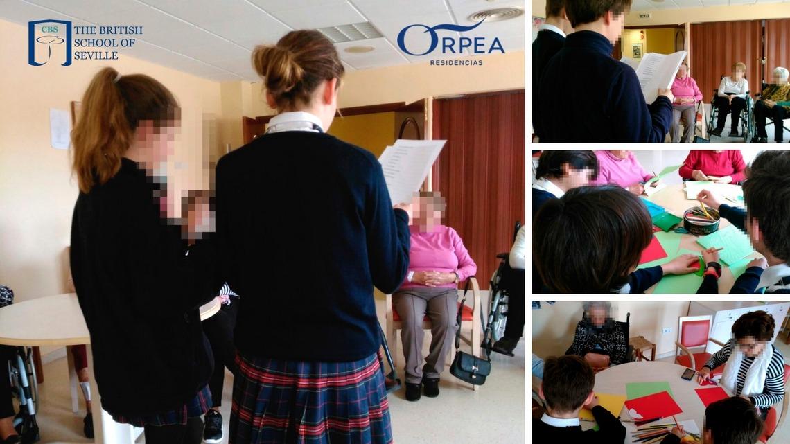 Primera visita de alumnos de Year 9 del CBS a la residencia de mayores ORPEA en Sevilla – Aljarafe
