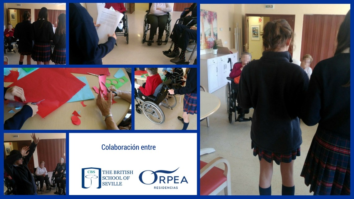 Tercera visita alumnos Year 9 a Residencia de la tercera edad Orpea en Bormujos