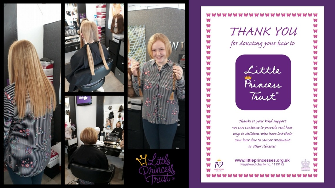 Layla Jane Berg – Year 10, donates her hair for Little Princess Cancer Trust