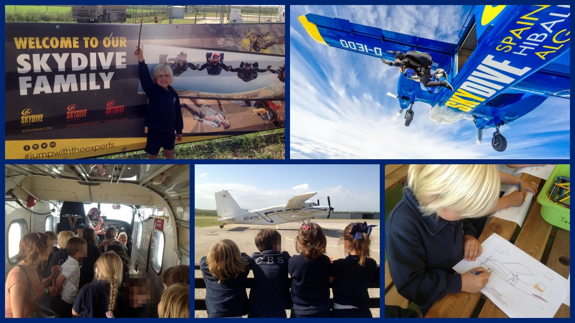 EYFS visita Skydive Spain, centro de paracaidismo en Bollullos de la Mitación