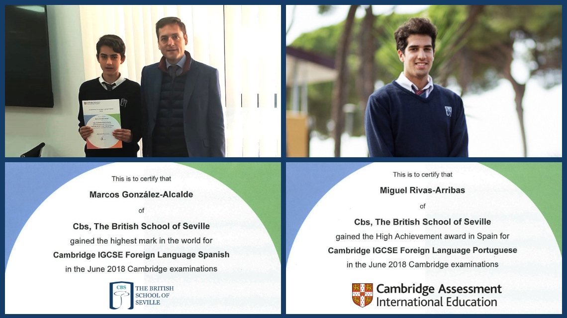 Estudiantes del CBS vuelven a obtener premios de CAMBRIDGE OUTSTANDING AWARDS JUNIO 2018