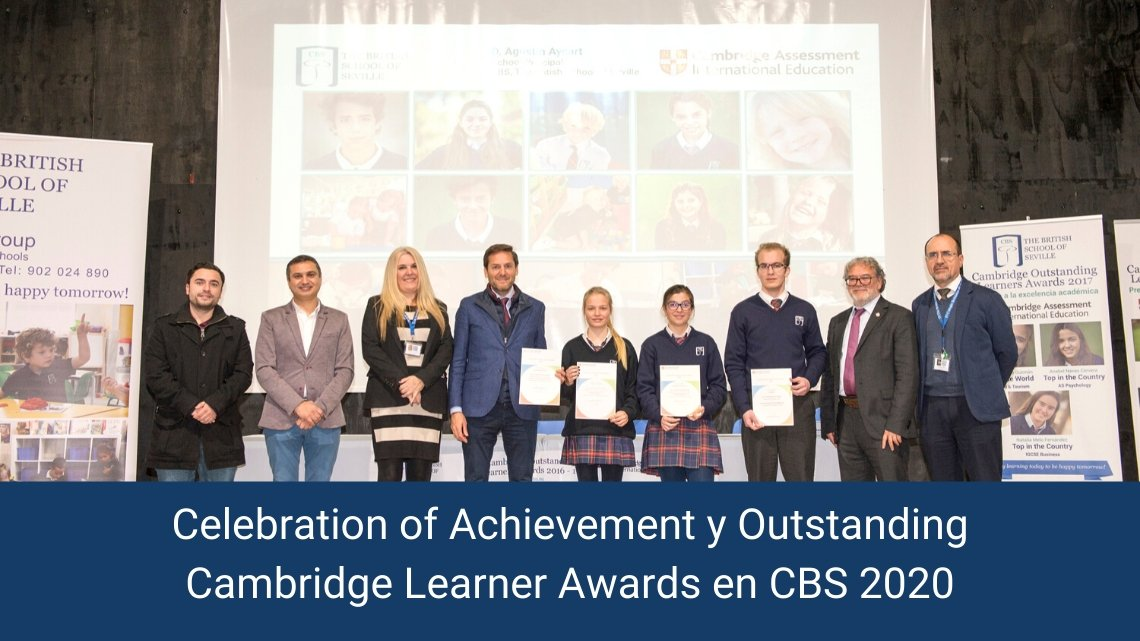 Celebration of Achievement y Outstanding Cambridge Learner Awards en CBS 2020