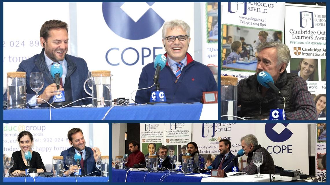 Programa de Cope Sevilla emitido en directo desde el CBS con Agustín Bravo y Rafael Almansa en Diciembre 2019