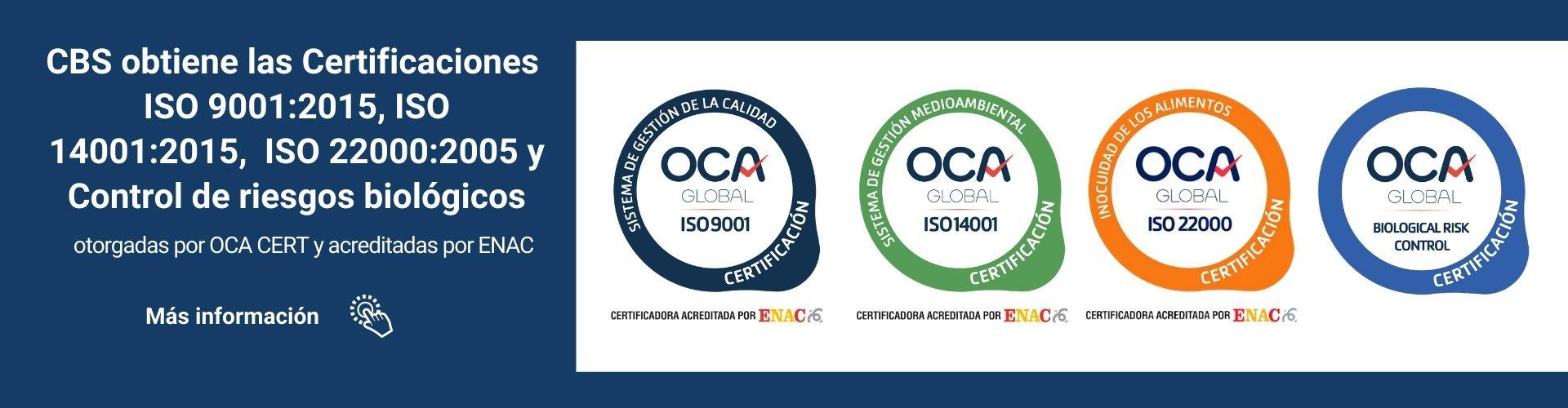 CBS-obtiene-las-Certificaciones-ISO-9001-ISO-14001-ISO-22000-OCA-CERT-y-ENAC