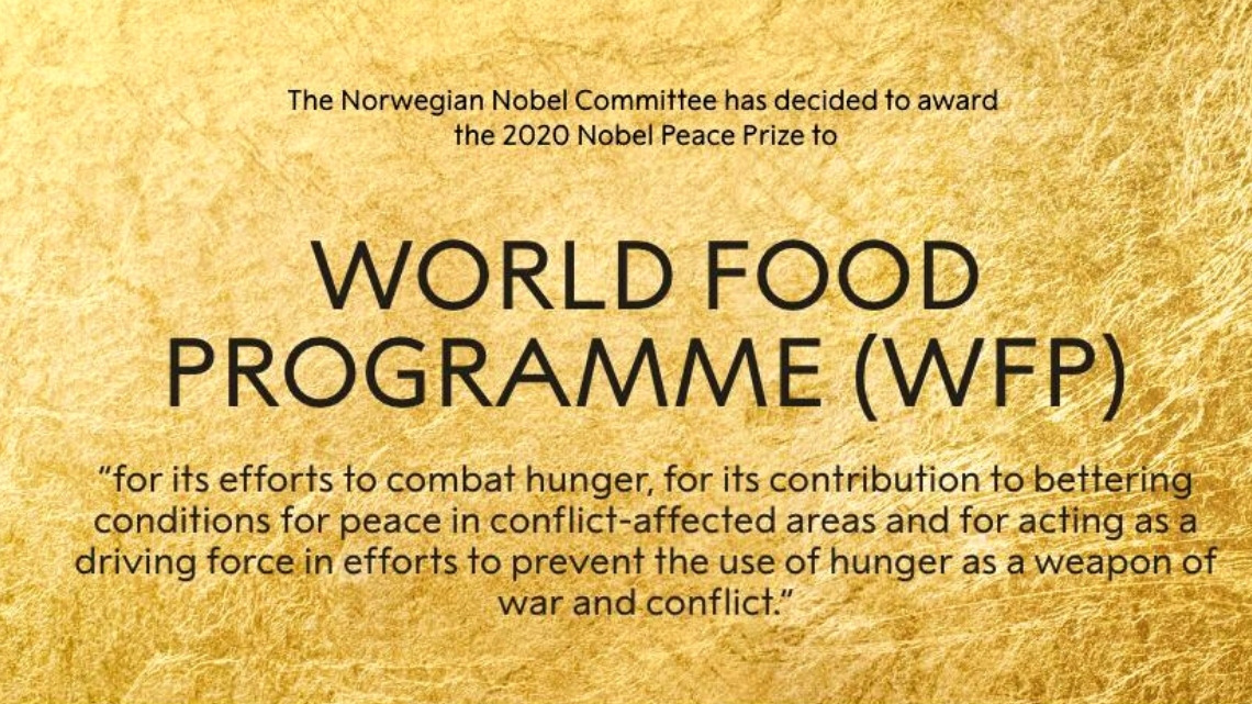 World Food Programme - Nobel de la Paz del 2020